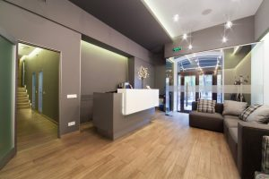 establishment with automatic doors
