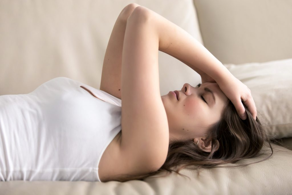woman suffering from fatigue