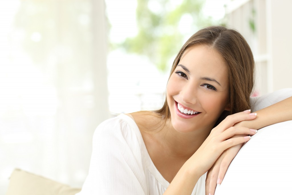 woman feeling confident