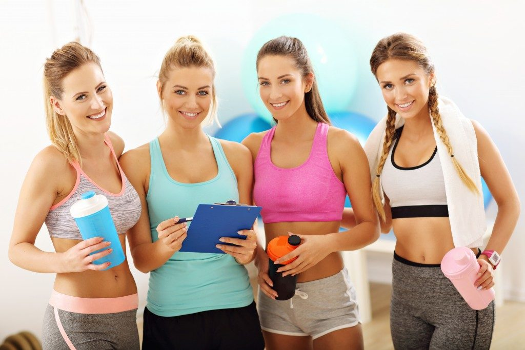 women in a gym